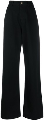 Ami High-Waisted Wide-Leg Trousers