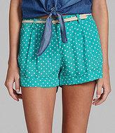 Takara Polka-Dot Cuffed Colored Shorts