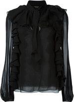 Giambattista Valli ruffled longsleeved blouse - women - Silk - 40