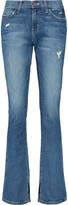 Current/Elliott The Slit Slim mid-rise distressed bootcut jeans