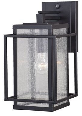 """Brayden Studioâ® Guinn Outdoor Wall Lantern Brayden StudioA Size: 14"""" H x 7.25"""" W x 10.75"""" D"""