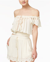 Astr Reyna Off-The-Shoulder Crop Top