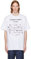 Raf Simons White 'Summer Games' Easy Fit T-Shirt