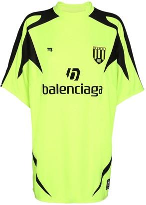 Balenciaga Oversized Logo Mesh Football T-shirt