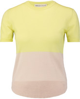 Emilio Pucci Two-tone wool-jersey top