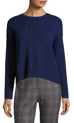 Peserico Cable-Knit Hi-Lo Sweater