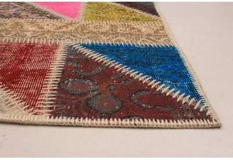 Cassandra Bloomsbury Market One-of-a-Kind Hand-Knotted 5.5' x 8.1' Wool Red/Yellow/Blue Area Rug Bloomsbury Market