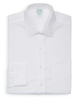Brooks Brothers Solid NonIron Dress Shirt - Milano Fit