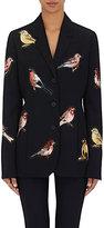 Stella McCartney Women's Embroidered Wool Three-Button Jacket-BLACK