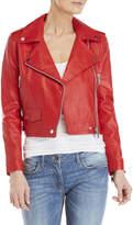 Walter Baker Red Leather Moto Jacket