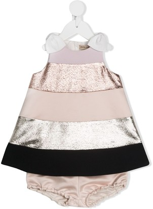 Hucklebones London Rainbow trapeze dress & bloomers