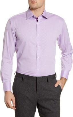 English Laundry Regular Fit Geometric Dress Shirt