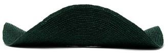ALBUS LUMEN Ola Wave Raffia Visor Hat - Dark Green
