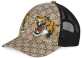 Thumbnail for your product : Gucci Tigers print GG Supreme baseball hat