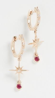 Marlo Laz 14k Lucky Star Hoop Earrings