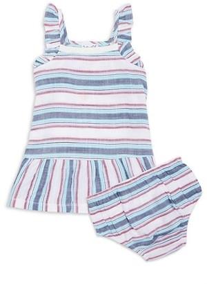Splendid Baby Girl's Striped 2-Piece Dress & Bloomers Set