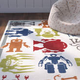 Zoomie Kids Alanna Cream Area Rug