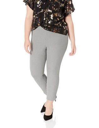 Karen Kane Women's Plus Size Houndstooth Piper Pant 20W