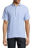 Saks Fifth Avenue Solid Linen Popover Shirt