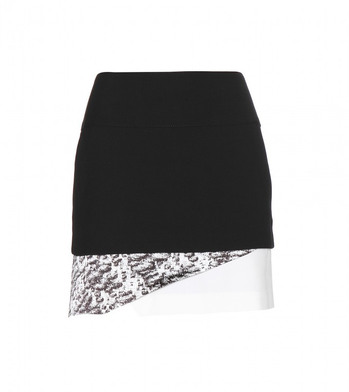 Helmut Lang Layered crepe skirt