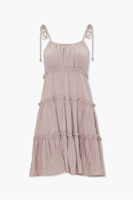 Forever 21 Tiered Ruffle-Trim Shift Dress