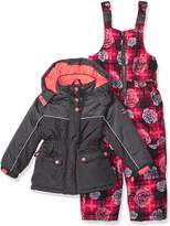 Pink Platinum Big Girl's Printed Super Snowsuit Outerwear