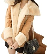 Changeshopping Girls Women Winter Warm Double-Breasted Wool Blend Jacket Women Coat (XXXXL, )