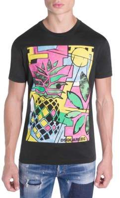DSQUARED2 Pineapple Graphic Tee