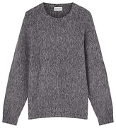 Jigsaw Brushed Lambswool Jumper, Pepper