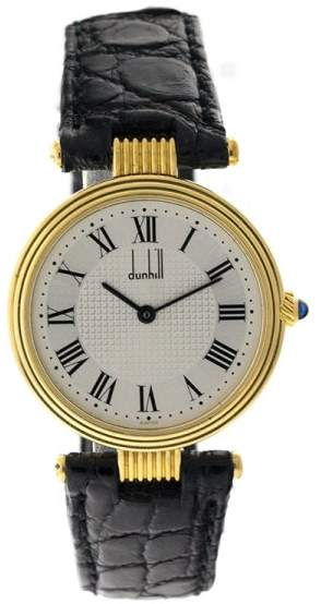 Dunhill 18K Yellow Gold Round Mens Watch