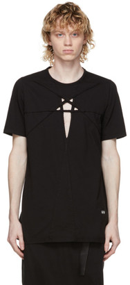 Rick Owens Black Cut-Out Level T-Shirt
