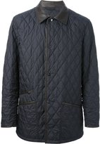 Salvatore Ferragamo quilted jacket - men - Leather/Polyester - 48