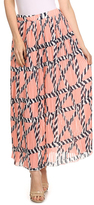 Pink & Gray Statue Print Maxi Skirt