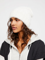Free People Head In The Clouds Fuzzy Beanie
