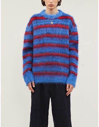 Marni Striped mohair-blend jumper