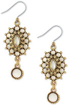 Lucky Brand Gold-Tone Mother-of-Pearl Drop Earrings