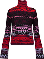 McQ by Alexander McQueen Intarsia-knit wool turtleneck sweater
