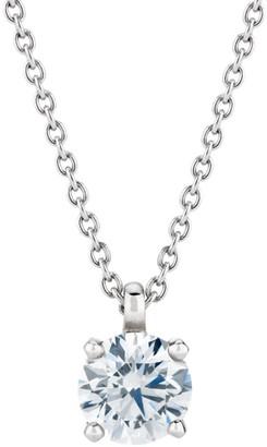 De Beers DB Classic Platinum & Diamond Pendant Necklace