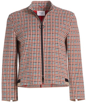 Akris Punto Houndstooth Sport Tape Jacket