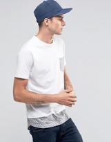Brave Soul Long Line Spot Pocket T-shirt