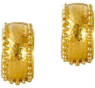 Elizabeth Locke Curved 19K Yellow Gold Wide Hoop Earrings