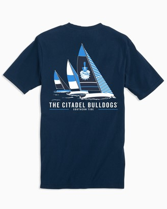 Southern Tide Citadel Bulldogs Sailboat T-Shirt