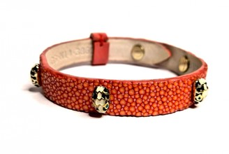 Bvlgari Serpenti Orange Stingray Bracelets