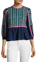 Manoush Rona Wool Jacquard Top
