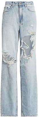 Ksubi Bring Back Life Playback High-Rise Destroy Baggy Jeans