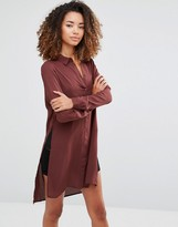 Vero Moda Shirt Dress with Slits and Closed Back
