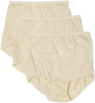 Vanity Fair Women's Plus Size Underwear Lollipop Traditional Cotton Briefs