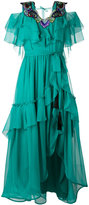 Alberta Ferretti layered embroidery dress - women - Silk/Acetate - 42