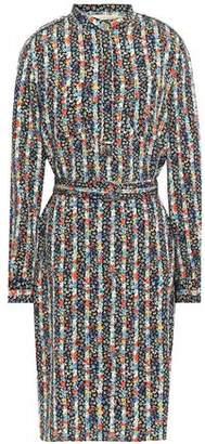 Vanessa Bruno Floral-print Crepe Shirt Dress