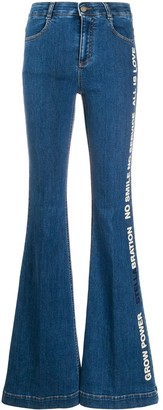 Stella McCartney Stellabration print flared jeans